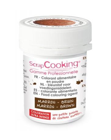 Colorant alimentaire en poudre - marron - 5g - SCRAPCOOKING