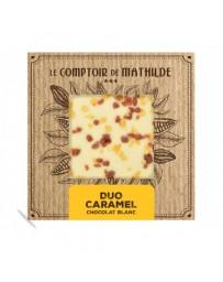 TABLETTE CHOCOLAT BLANC - DUO DE CARAMEL - LE COMPTOIR DE MATHILDE