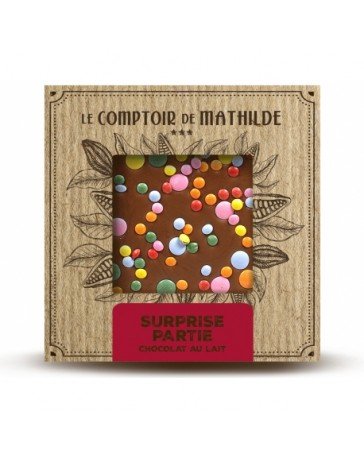 TABLETTE CHOCOLAT AU LAIT - SURPRISE PARTIE - LE COMPTOIR DE MATHILDE