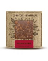 TABLETTE CHOCOLAT AU LAIT - FEUILLETINE - LE COMPTOIR DE MATHILDE