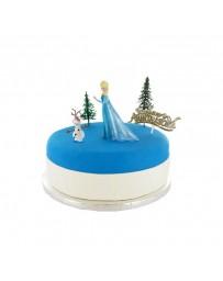 Kit de décoration gâteau - LA REINE DES NEIGES - CERFDELLIER
