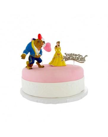 Kit de décoration gâteau - LA BELLE ET LA BÊTE - CERFDELLIER
