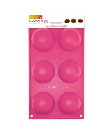 Moule silicone - 6 DEMI-SPHERES - SCRAPCOOKING