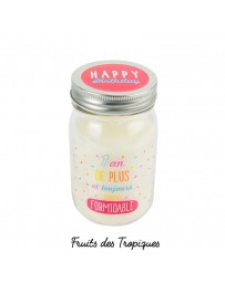 BOUGIE MASON JAR - 1 AN DE PLUS