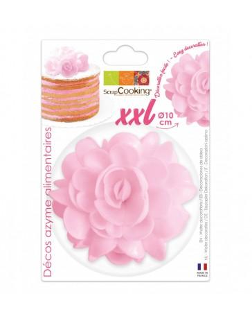Fleur AZYME rose XXL - 10CM - SCRAPCOOKING