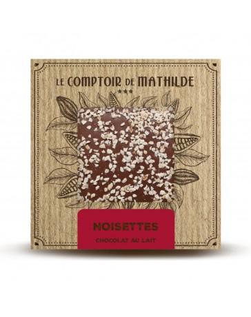 TABLETTE DE CHOCOLAT AU LAIT - NOISETTES - LE COMPTOIR DE MATHILDE