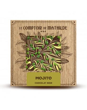 TABLETTE DE CHOCOLAT NOIR - MOJITO - LE COMPTOIR DE MATHILDE