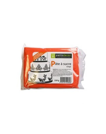 PÂTE À SUCRE ORANGE - GOÛT VANILLE - 250g - PATISDECOR